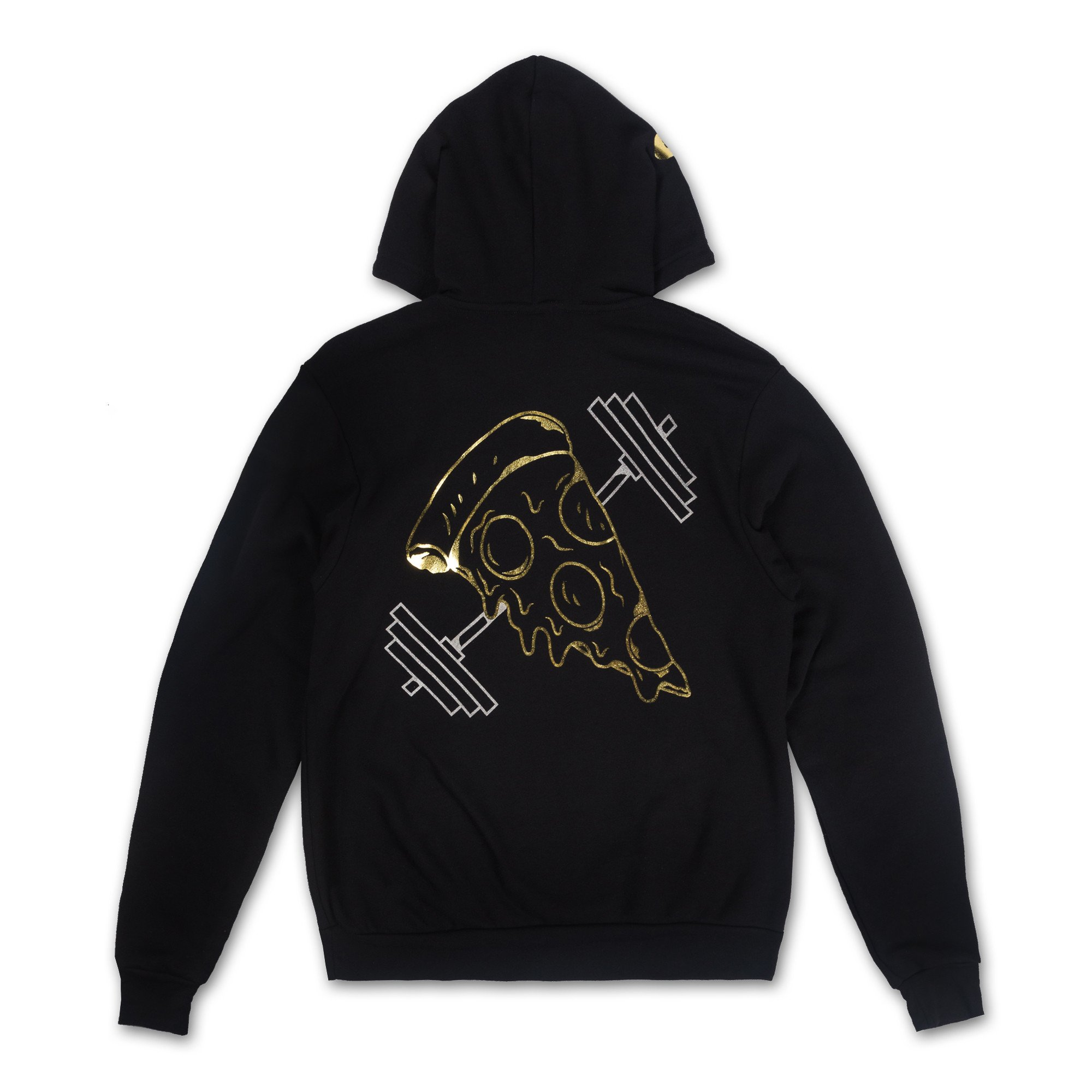 Pizza Bell Gold Foil Hoodie - Black